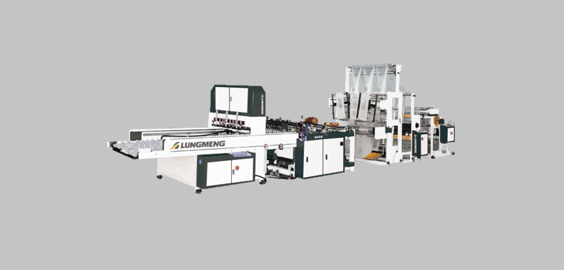 Fully Automatic Servo-Driven Triple-Lane T-Shirt Bag Making Machine with Hot Slit Seal & Post Gusset Unit